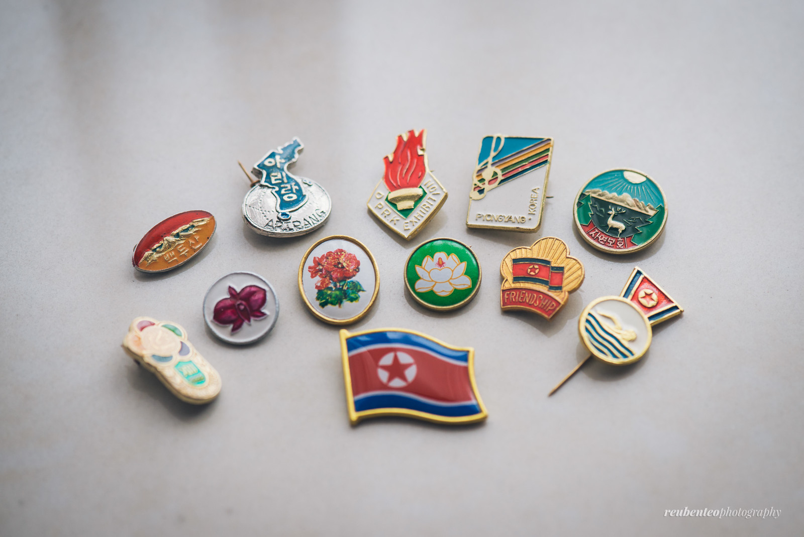 Lapel pins from North Korea