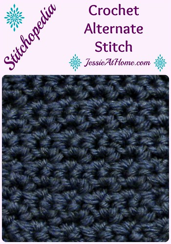Stitchopedia ~ Crochet Alternate Stitch from Jessie At Home