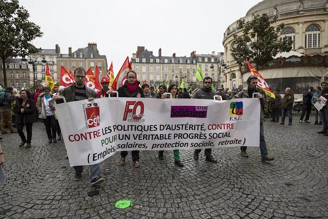 Rennes : Traditionnel défilé du 1er Mai.