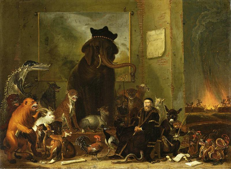 Cornelis Saftleven - Satire on the trial of Johan van Oldenbarneveldt, 1663