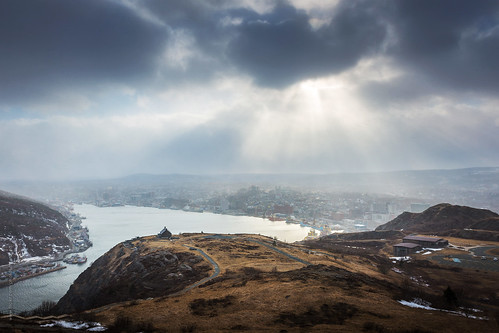city winter light panorama canada skyline port newfoundland landscape evening nikon scenery downtown cityscape harbour hill stjohns seaport signalhill nfld atlanticcanada lightray d600 stjohnsharbour newfoundlandandlabrador downtownstjohns nikond600