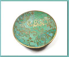 polymer clay Wedding Ring Holder Mint Green