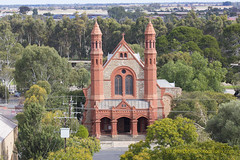 St Peter and St Pauls Catholic Church from St Georges Anglican Church tower 2015