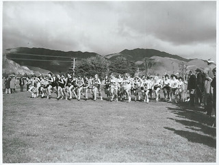General view of the start of the Women's race (3,000) meters, of the N Z Cross Country Championships, at Queen Elizabeth Park, Paekakariki, Wellington Province