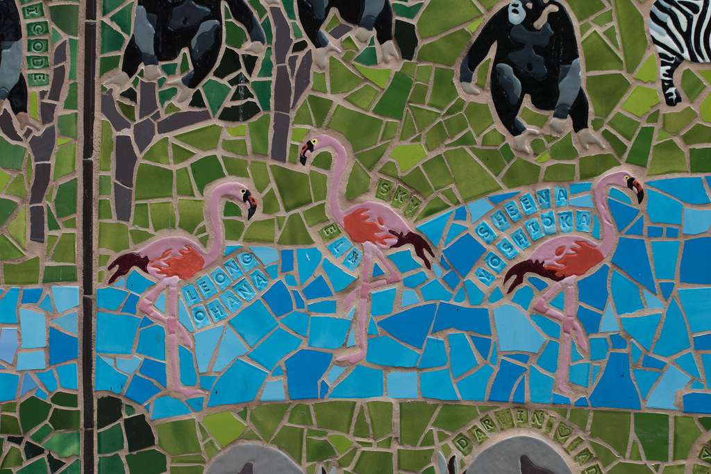 Mosaic Flamingos