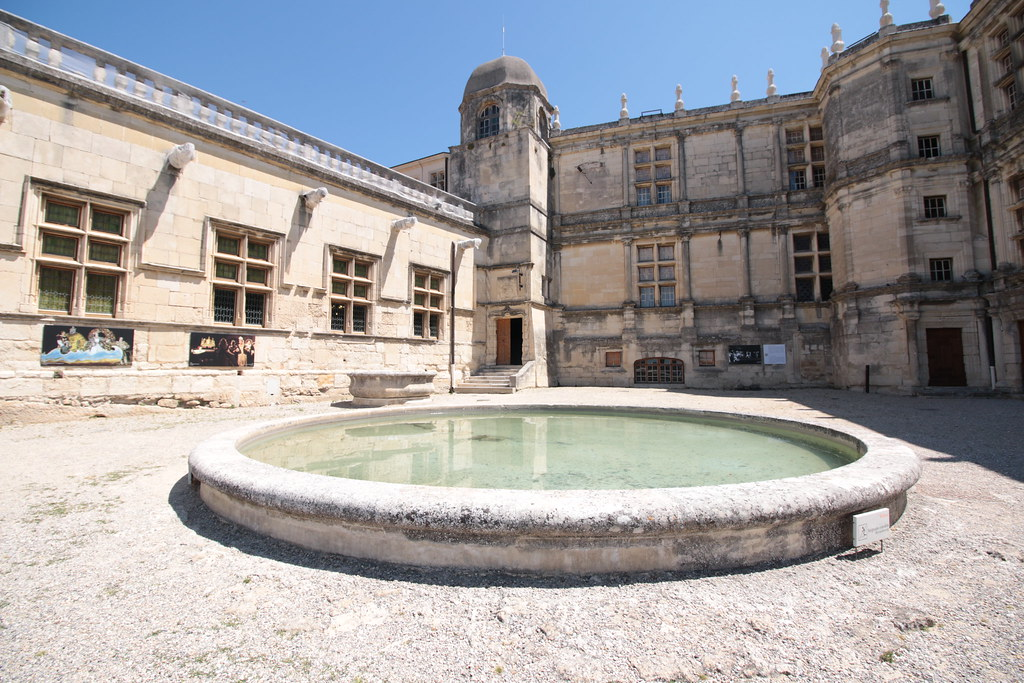 Grignan Castle fountain