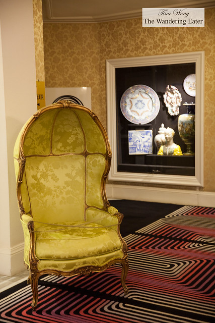 Love the chartreuse colored dome chair