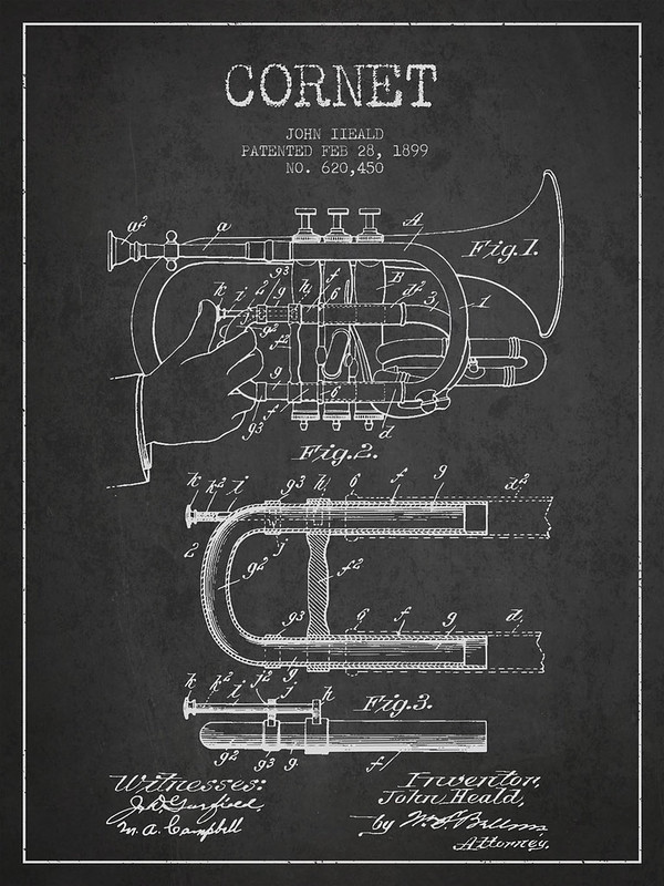Cornet Patent Drawing from 1899