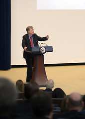 Under Secretary for Management Patrick Kennedy delivers remarks at the Global Chiefs of Mission Conference at the U.S. Department of State in Washington, D.C., on March 25, 2015. [State Department photo/ Public Domain]