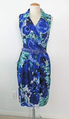 blue ity dress without sleeves