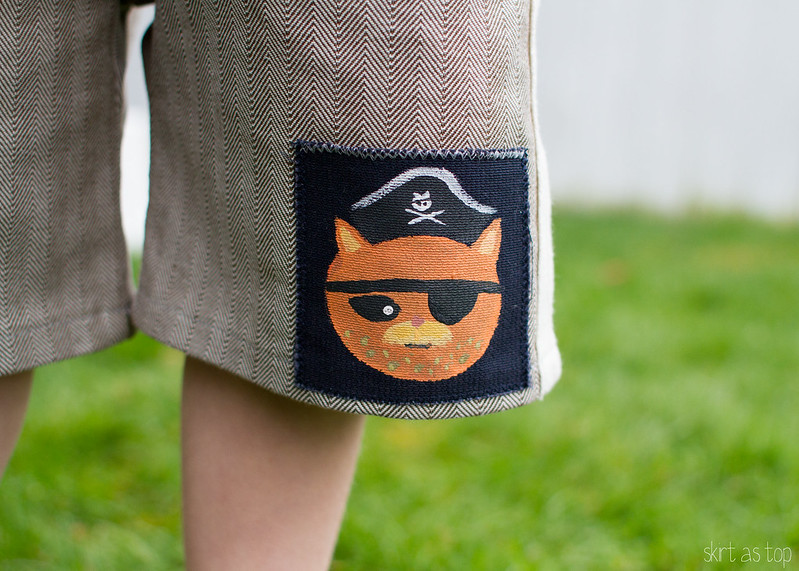 octonaut sailboat top + kid shorts