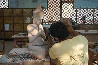 Sculpture at Artisans d'Angkor
