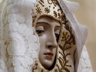 Virgen María en la iglesia mozárabe de San Cipriano en San Cebrián de Mazote (Valladolid)