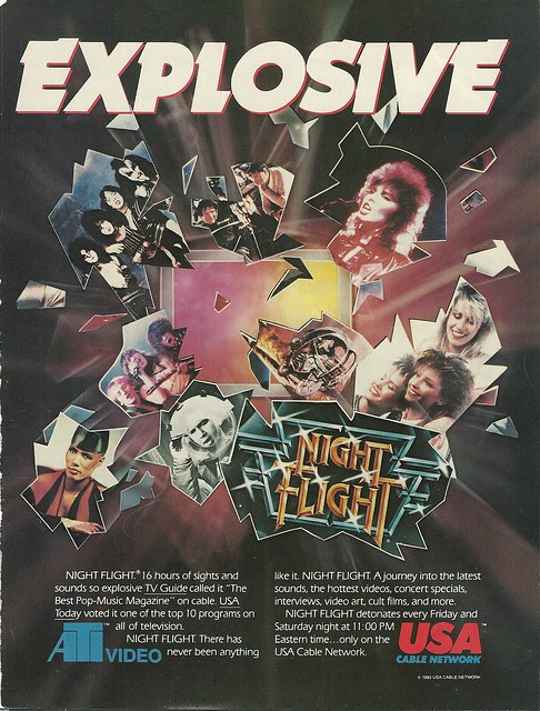 1982-1983 Night Flight on USA Bale Network (print ad)