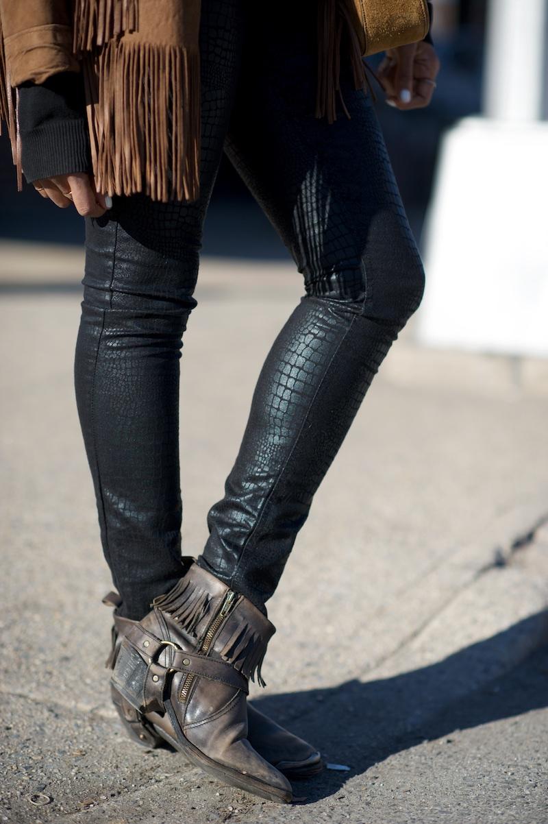 All Saints fringe boots