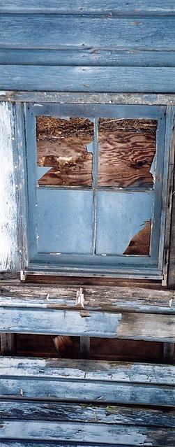 La Conner, Washington: Building of Blue Weathered Wood