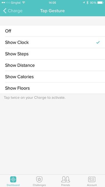 Fitbit iOS App - Tap Gesture