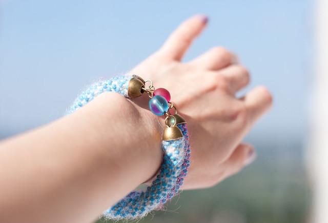 sky blue bracelets
