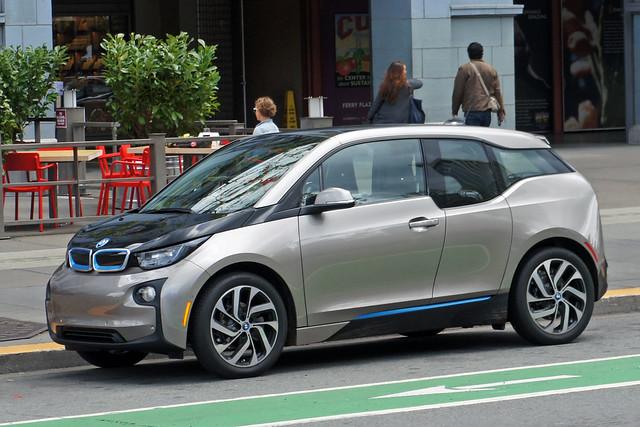 BMW i3 electric car, Embarcadero, San Francisco