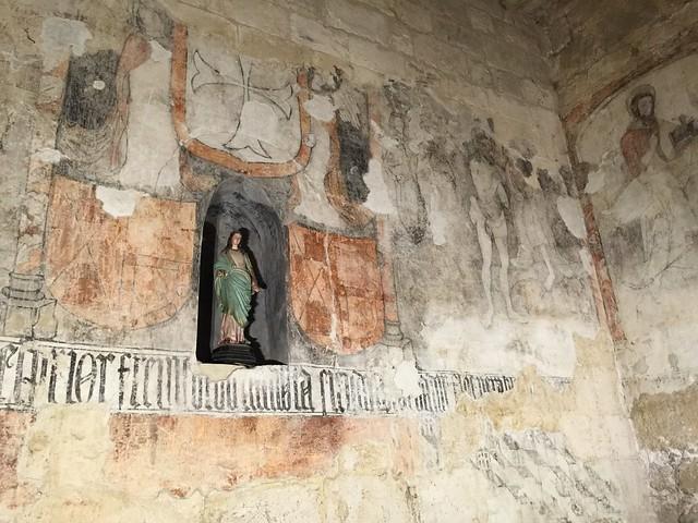 Frescos conservados en la iglesia de Wamba (Valladolid)