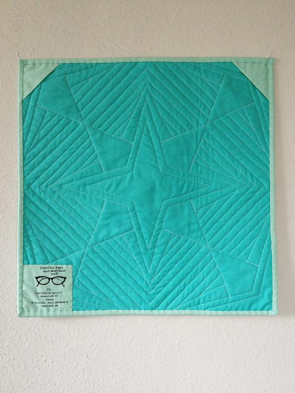 Schnitzel Star Mini Quilt