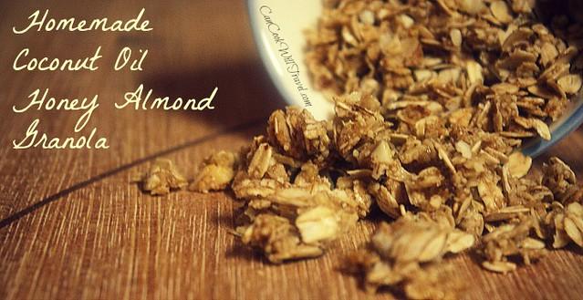 Granola Goodness - Part 2: Coconut Oil Honey Almond Granola - Can