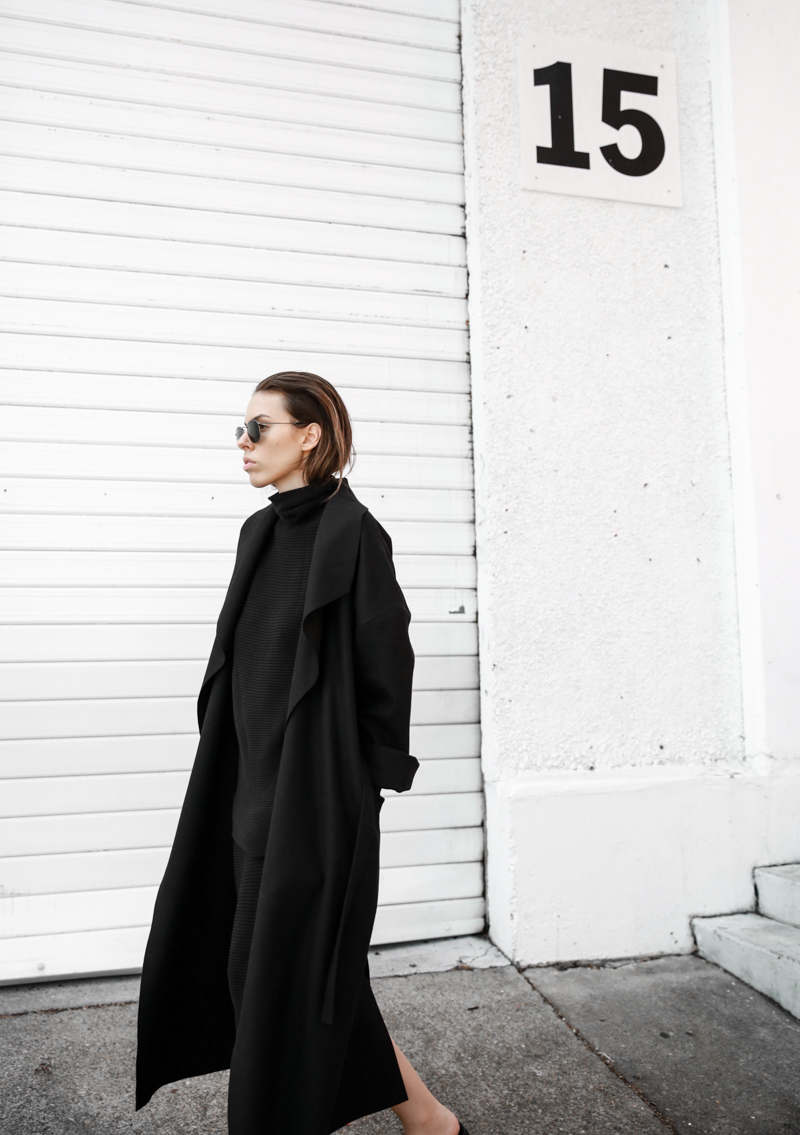 BC x MODERN LEGACY collection all black coat street style fashion blog (1 of 1)