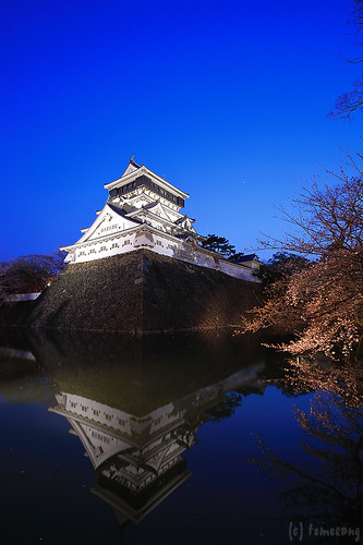 Kokura Castle at Night