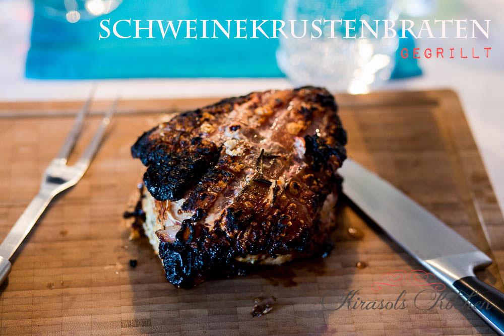 Schweinekrustenbraten vom Grill