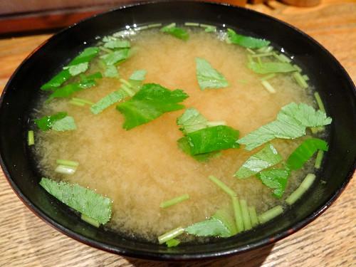天丼半之助 味噌汁