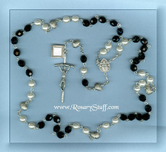Black and White Memorial Rosary
