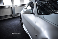 Nissan 350Z Satin Pearl White wrap