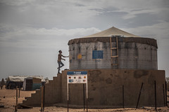 Water tank in the Refugee Camp