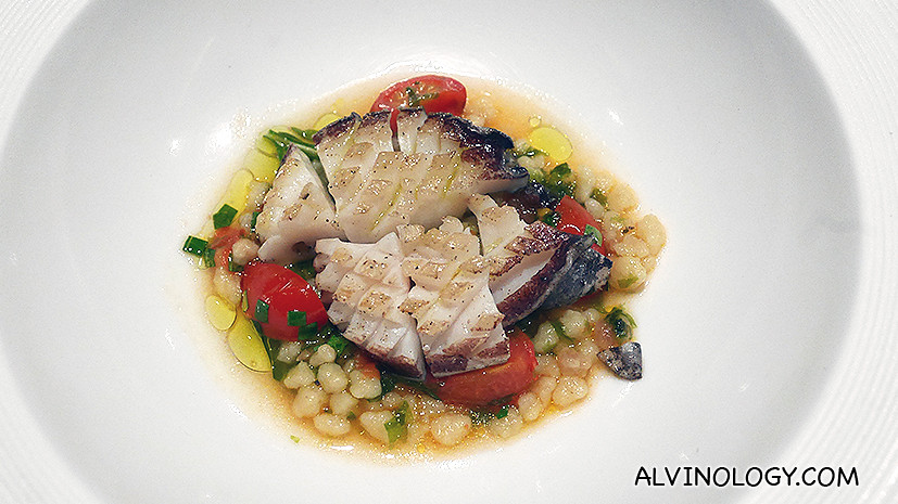 Tasmanian Abalone with Fregola and Tomato