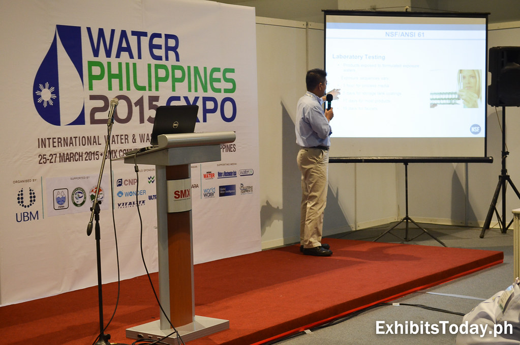 Free seminar at the  first day of Water Philippines 2015