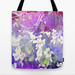VIOLETS FLOWERS ON A DREAM TOTE BAG