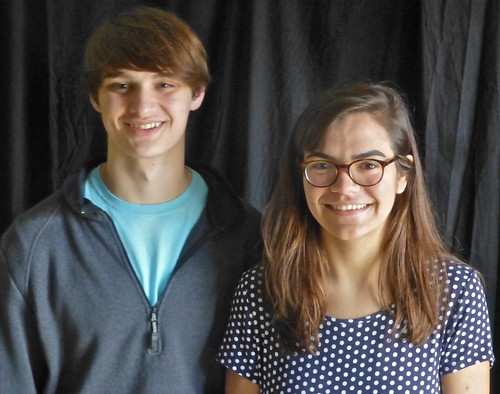 Ethan Courtman, Madelyn Gaharan, Caddo Magnet HS debate