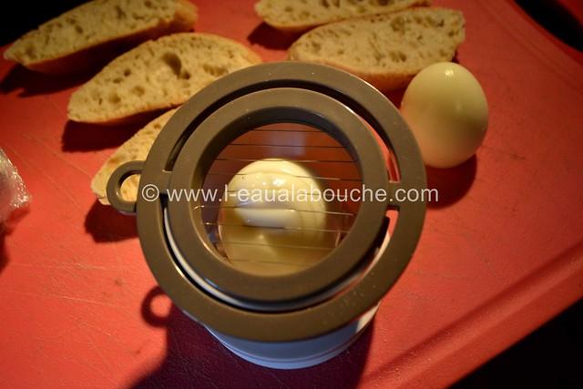 Tartine aux Oeufs  & Anchois sur  Mayonnaise d'Asperges © Ana Luthi  Tous droits réservés 019