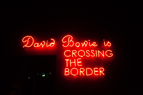 David Bowie is crossing the border