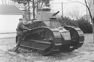 Gordon Highlander WO2 H McConnell  & AMSCO M1917 copy of WW1 Renault FT tank