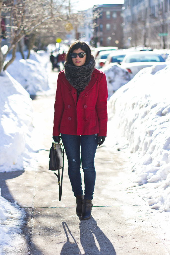 red peacoat, furry cowl, distressed jeans.jpg