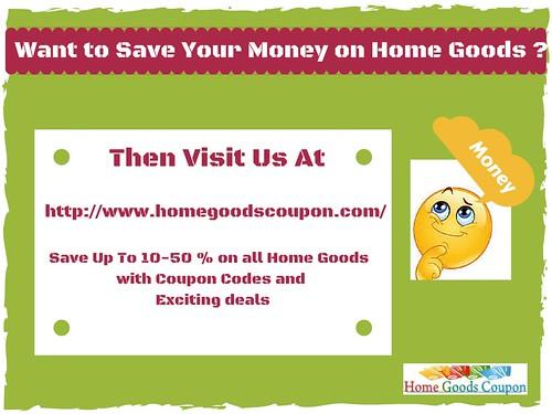 Home Goods Coupon
