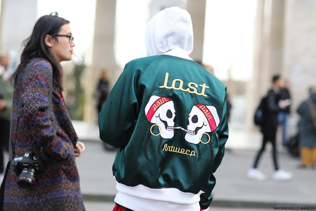 Phil and Koo at Paris fashion week
