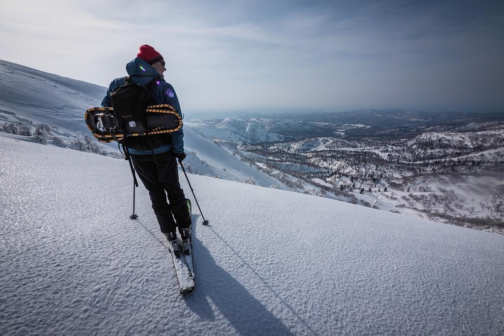 Skiing Mt. Yoichi near Sapporo, Hokkaido, Japan