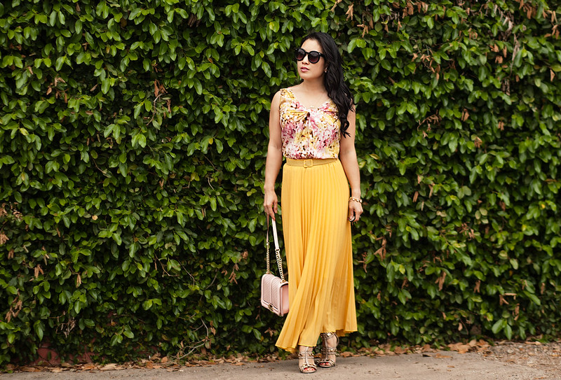 Pleated Mustard Maxi - cute & little