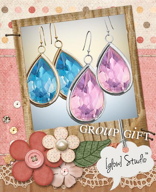 [ glow ] studio fits earrings group gift