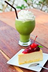 cup cake with Matcha green tea