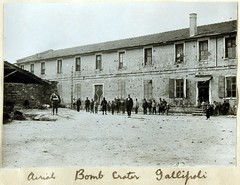 Building damaged by shell splinters, Gallipoli campaign