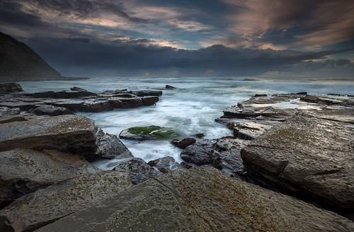 seascape sunrise australia stormy