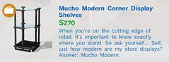 Mucho Modern Corner Display Shelves